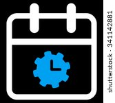 time service date glyph icon....
