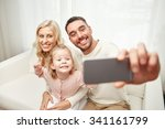 holidays  technology and people ... | Shutterstock . vector #341161799