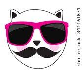 cute handdrawn cat vector... | Shutterstock .eps vector #341161871