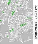 vector map of new york. | Shutterstock .eps vector #34116199