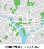 vector map of washington dc. | Shutterstock .eps vector #34116202