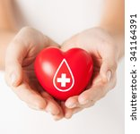healthcare  medicine and blood... | Shutterstock . vector #341164391