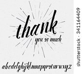 thank you so much script... | Shutterstock .eps vector #341164409