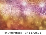 fireworks at new year and copy... | Shutterstock . vector #341172671