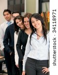 group of business people in an...   Shutterstock . vector #34118971