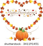 border illustration of autumn... | Shutterstock .eps vector #341191451