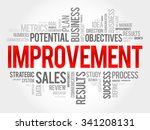 improvement word cloud ... | Shutterstock .eps vector #341208131