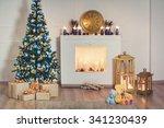 new year interior in studio... | Shutterstock . vector #341230439