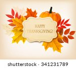 happy thanksgiving background... | Shutterstock .eps vector #341231789