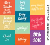 new year calligraphy variations ... | Shutterstock .eps vector #341233115