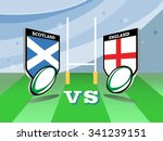 rugby six nations championship... | Shutterstock .eps vector #341239151