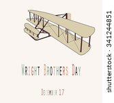 wright brothers day  ... | Shutterstock .eps vector #341244851
