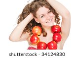 bright picture of lovely girl... | Shutterstock . vector #34124830