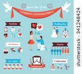 wedding infographics set with... | Shutterstock .eps vector #341248424
