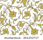 luxury golden seamless... | Shutterstock . vector #341252717