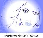 winter girl. | Shutterstock .eps vector #341259365