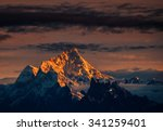 Stock photo mt everest the highest peak of the world 341259401