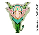 taurus   decorative zodiac sign | Shutterstock .eps vector #341269049