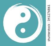 vector yin yang in a zen circle ... | Shutterstock .eps vector #341276861
