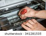 maintenance and repair the...   Shutterstock . vector #341281535