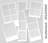 Photo booth Photo Frame templates with sharp transparent shadow. Set of different Photo frame templates.