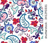 seamless paisley background... | Shutterstock .eps vector #341293331
