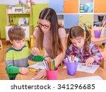 activities for preschoolers  ... | Shutterstock . vector #341296685