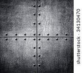pattern of metal background | Shutterstock . vector #34130470