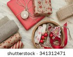 christmas gift wrapping | Shutterstock . vector #341312471