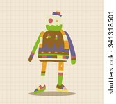 robot theme elements vector eps | Shutterstock .eps vector #341318501