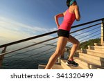 healthy lifestyle sports woman... | Shutterstock . vector #341320499