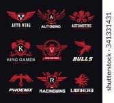 logo collection set automotive...