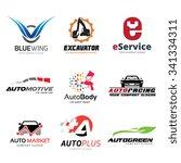 logo set logo collection auto... | Shutterstock .eps vector #341334311