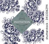 vintage delicate invitation... | Shutterstock .eps vector #341336294