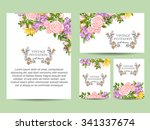 invitation with floral... | Shutterstock .eps vector #341337674
