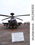 Small photo of AH-64 Apache attack helicopter open Tourists at Hsinchu Air Base in Taiwan. In November 19, 2015