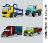 industrial freight vehicles... | Shutterstock .eps vector #341347325