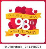 colorful marriage anniversary...   Shutterstock .eps vector #341348375