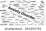 a disease called anxiety... | Shutterstock . vector #341351741