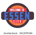 essen in germany is beautiful... | Shutterstock .eps vector #341359184