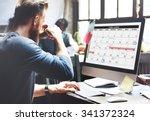 calender planner organization... | Shutterstock . vector #341372324