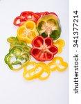 sweet pepper isolated on white... | Shutterstock . vector #341377214