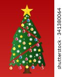 christmas tree with colorful...   Shutterstock .eps vector #341380064