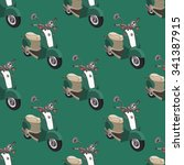 seamless pattern with green... | Shutterstock .eps vector #341387915