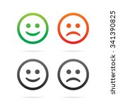 smiley icons. set of vector...
