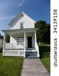 old living houses in an little... | Shutterstock . vector #34139158