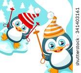 vector winter background with... | Shutterstock .eps vector #341403161