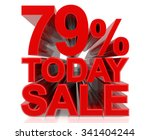 79  today sale word on white... | Shutterstock . vector #341404244