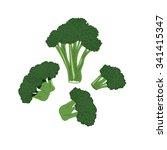 broccoli illustration vector   Shutterstock .eps vector #341415347
