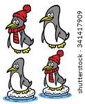 penguins funny illustration for ... | Shutterstock .eps vector #341417909